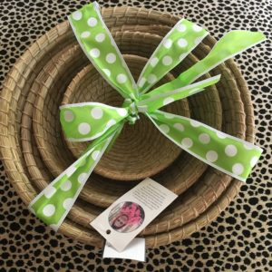 fair trade handmade grass nesting baskets