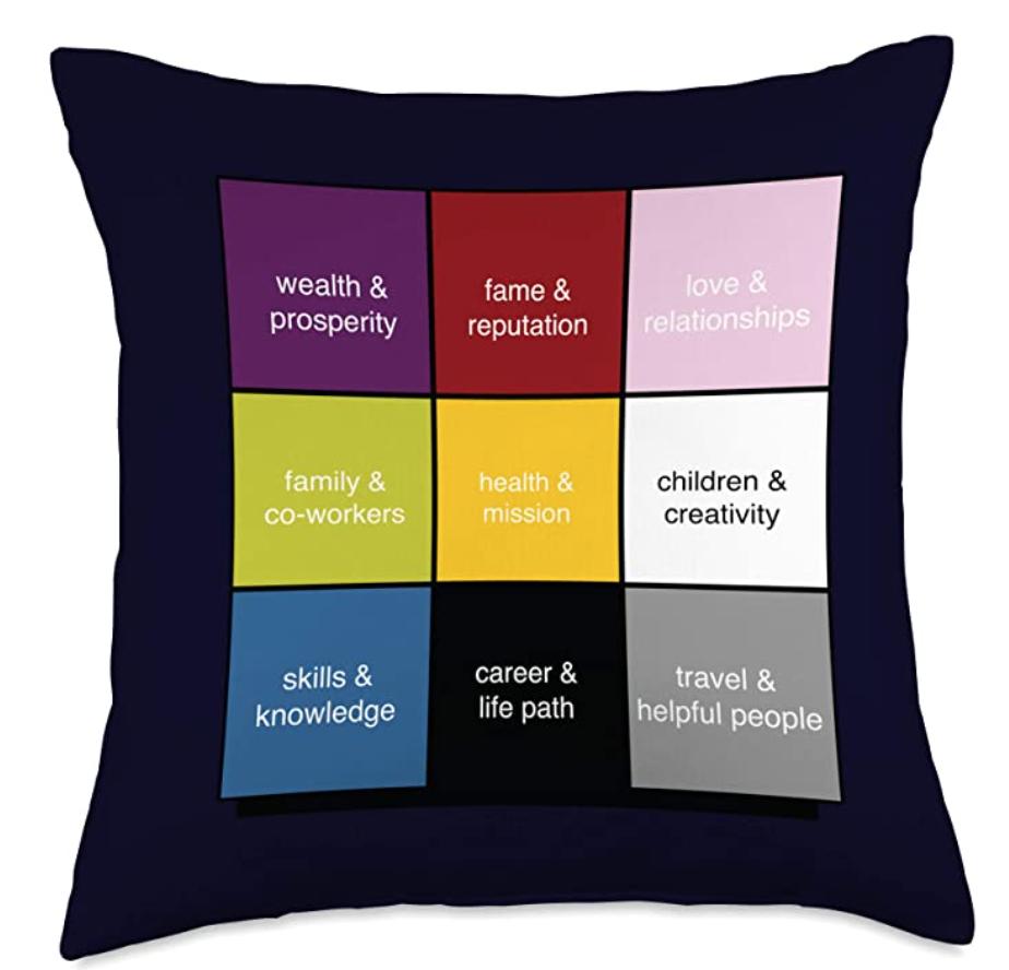 Bagua Map Throw Pillow